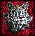Black and Silver Wolf Mask