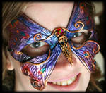 Purple and Gold Butterfly Mask