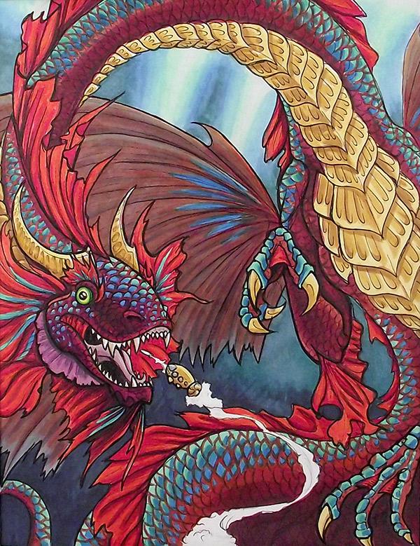 Betta Dragon Illustration by Namingway