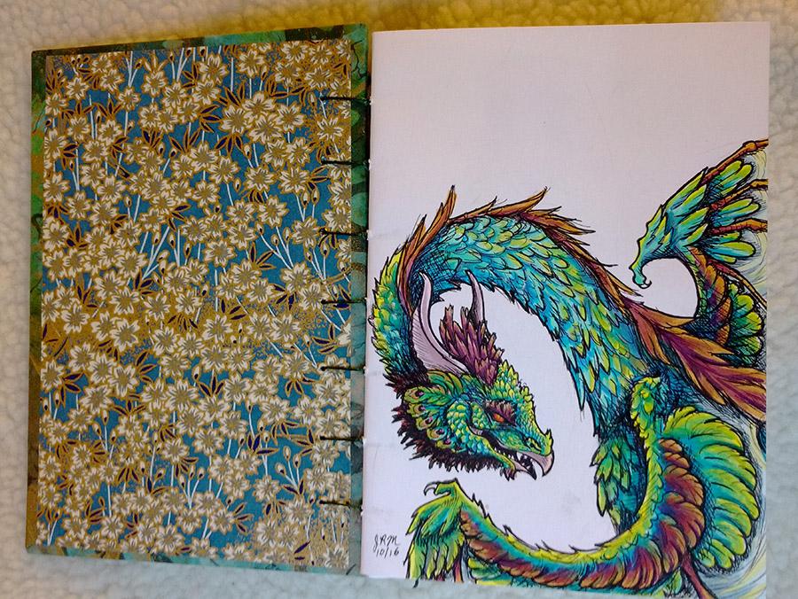 DragonColorPeacock Dragon by Namingway