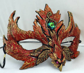 Autumn Leaf Phoenix Mask