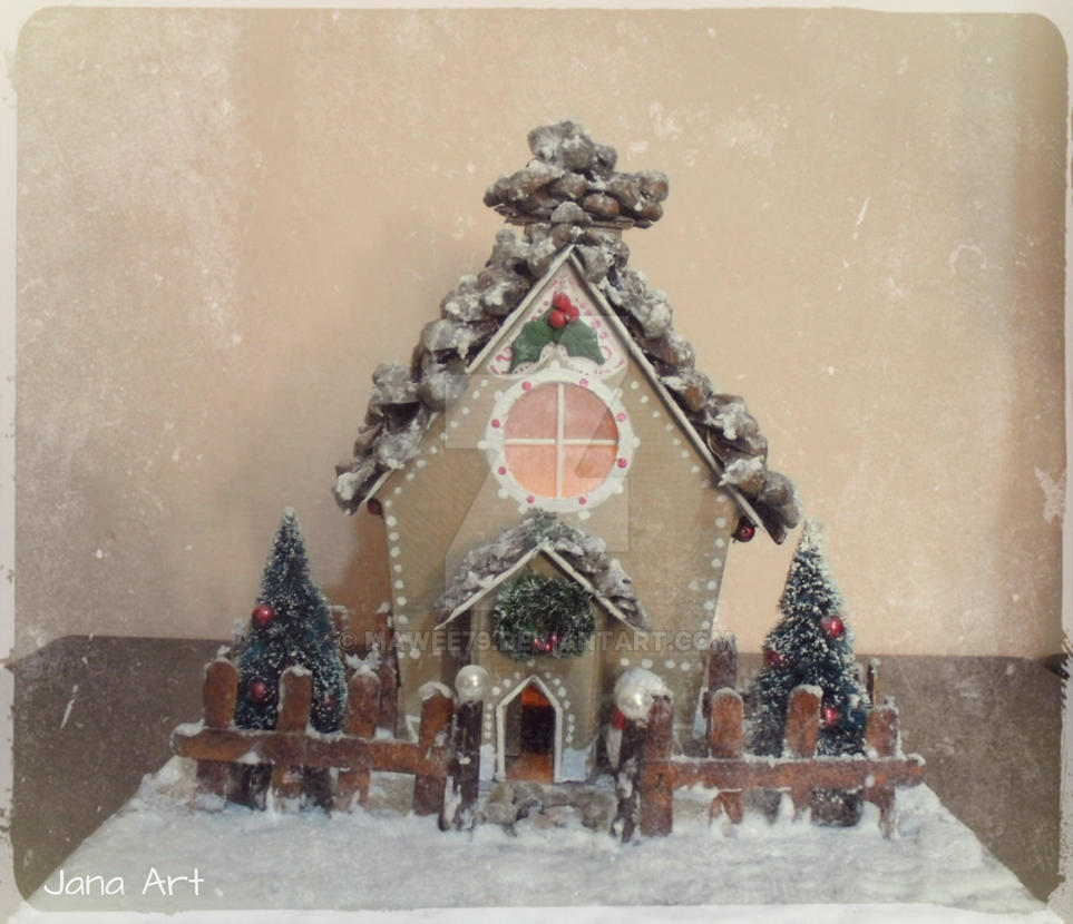 Christmas House candle holder by Mawee79