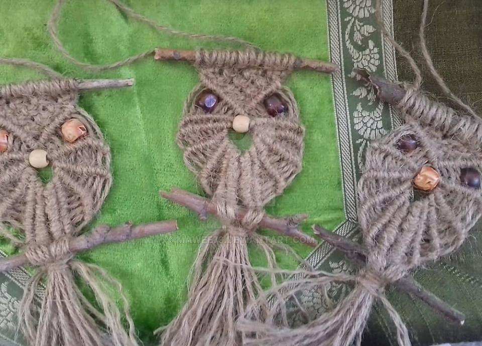 Macrame handmade owl by Mawee79