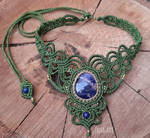Macrame necklace with sodalite