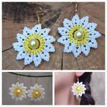 Macrame earrings with beads