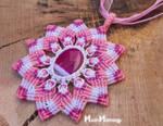 Macrame Mandala Flower Pendant