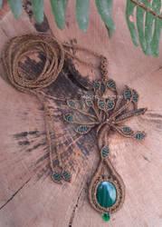 Macrame Tree of Life necklace