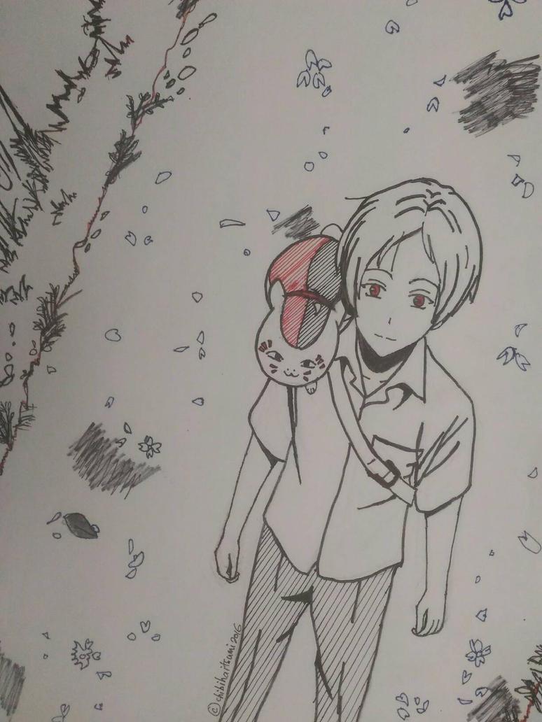 [AT] Natsume Takashi  Nyanko Sensei by chibihaitsumi