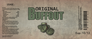 Buffout label