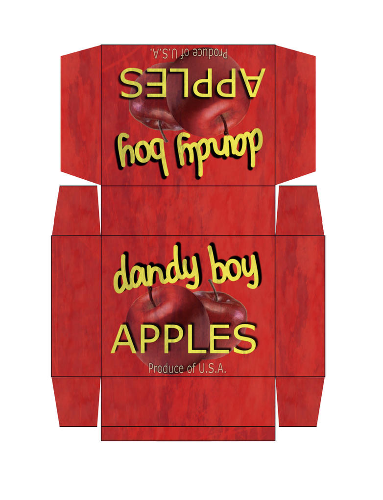 dandy boy apples box by emptysamurai