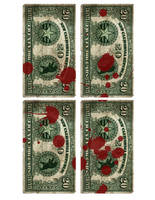 blood spattered banknotes 2 by emptysamurai