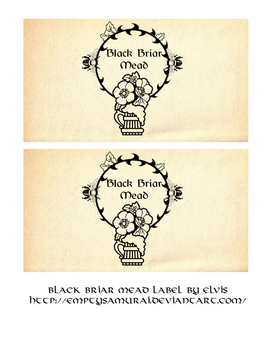 Skyrim Black briar mead label