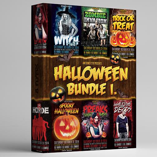 Halloween Flyer Bundle Vol.1 by majkolthemez