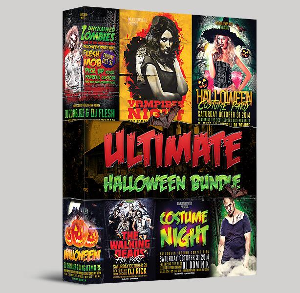 Ultimate Halloween Party Flyer Bundle 6 in 1 by majkolthemez