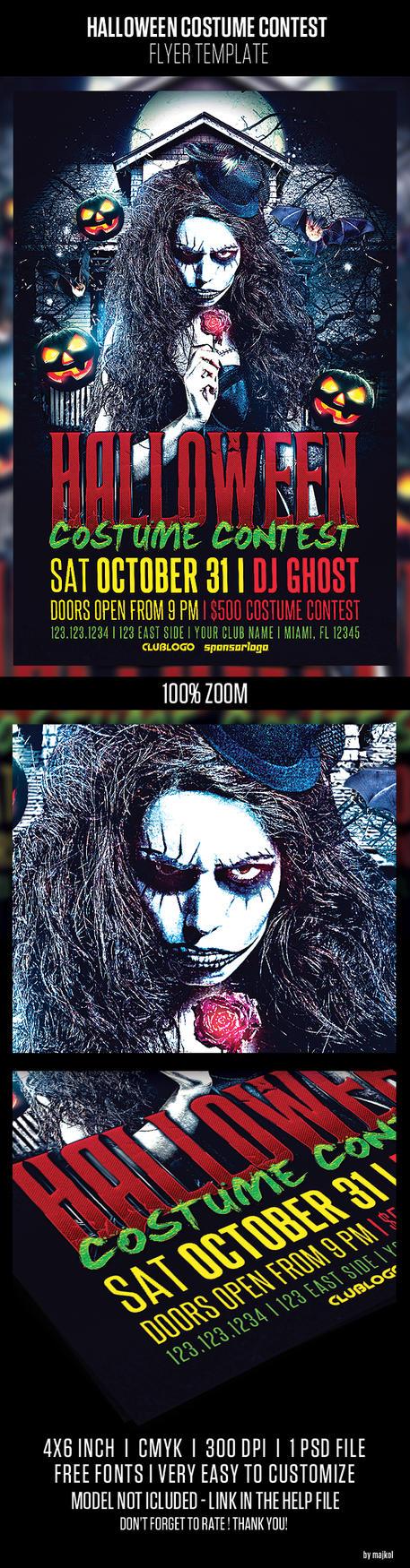 Halloween Costume Contest Flyer by majkolthemez