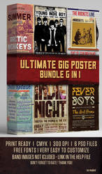 Ultimate Gig Poster Bundle 6 in 1 by majkolthemez