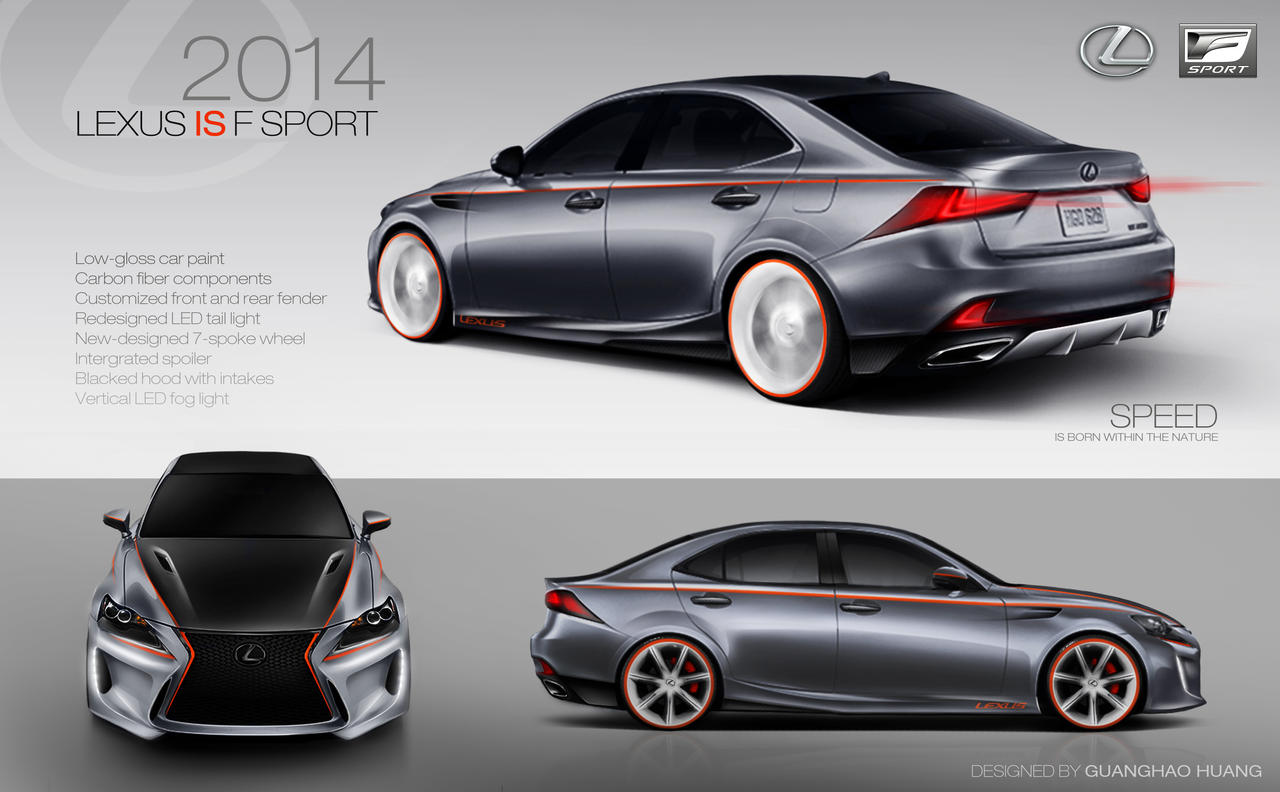 2014 Lexus IS F Sport Concept Design by hgh0518