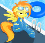 Spitfire hanging out by the pool...being seductive