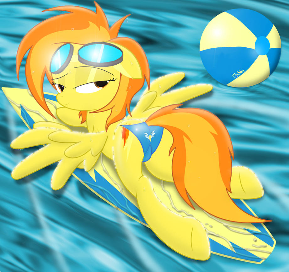 Spitfire on her surfboard..... in a bikini by Spitshy