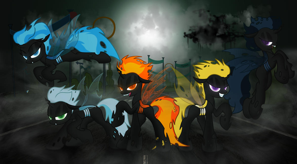 Changeling wonderbolts by Spitshy
