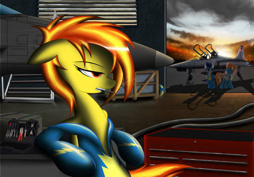 Hanging out in the hangar
