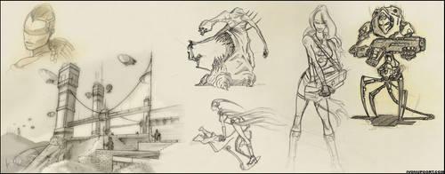 sketches.. by DevIvo