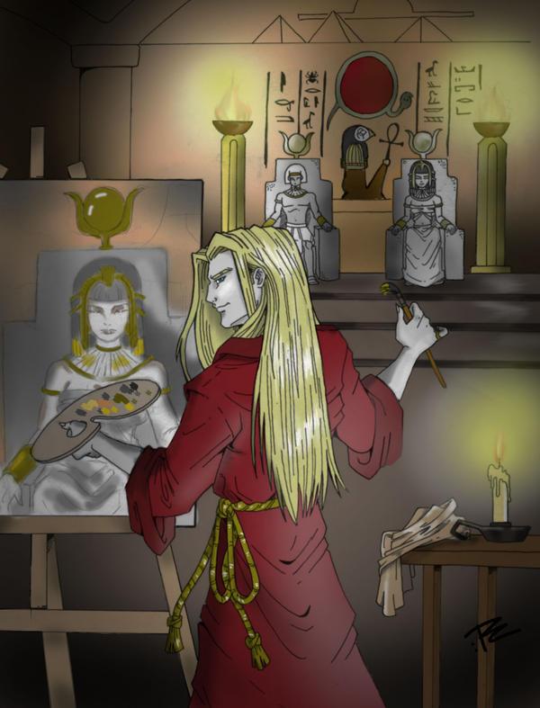RETRATOS DE VAMPIROS - Página 2 Marius_paintin_by_nightink_rcart-d4dtcq4