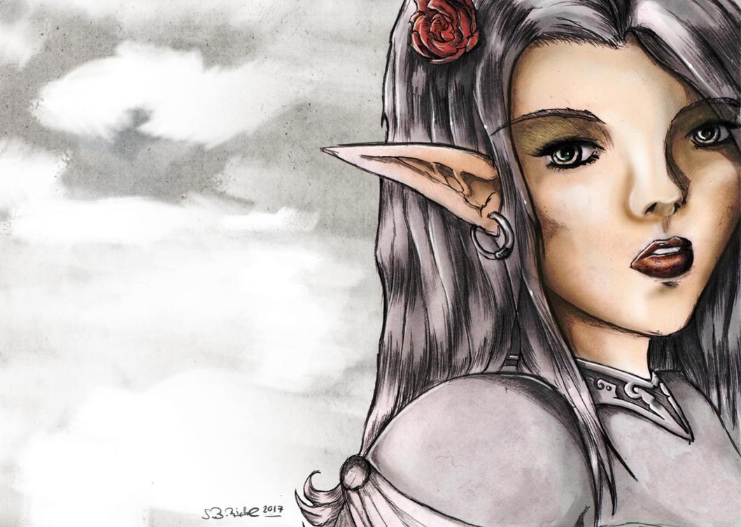 Elven Maiden by RiehlART