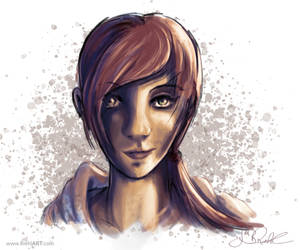 Red-Head-Girl (Surface Book Test) by RiehlART