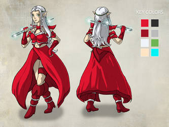 Characterdesign Elna by RiehlART