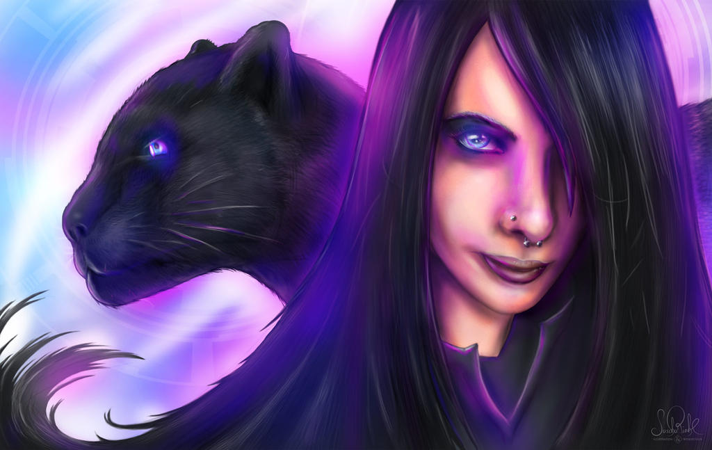 Gothicgirl in Neonlights by RiehlART