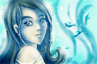 The Underwater Girl by RiehlART