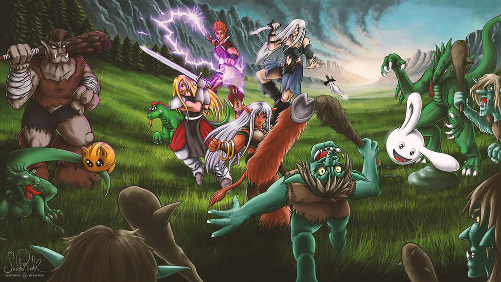 The Great Battle of Gamerald by RiehlART