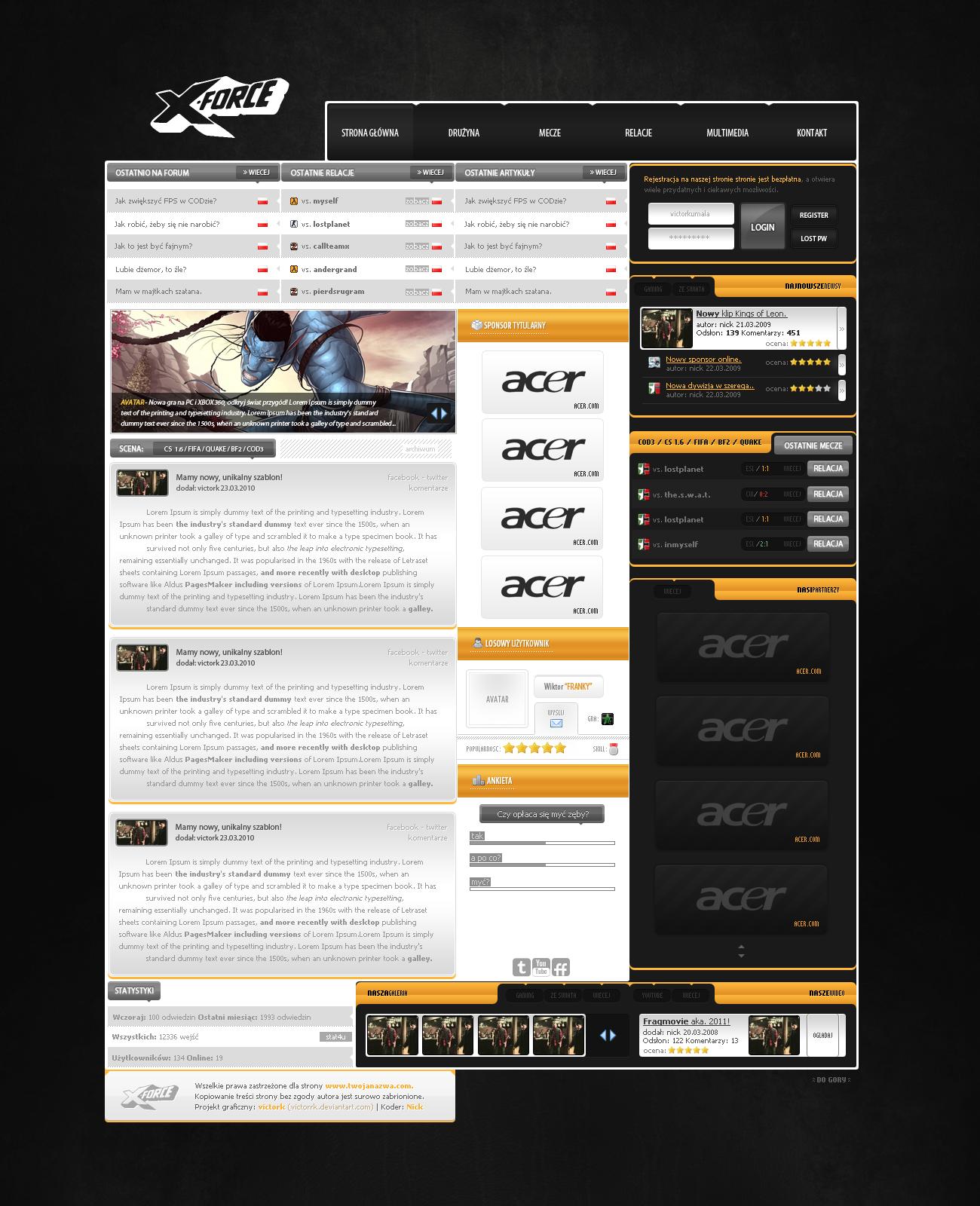Orange gaming webdesign project by victorrk on DeviantArt
