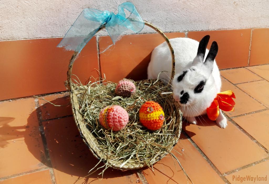 Panda eating Easter basket by PidgeWayland