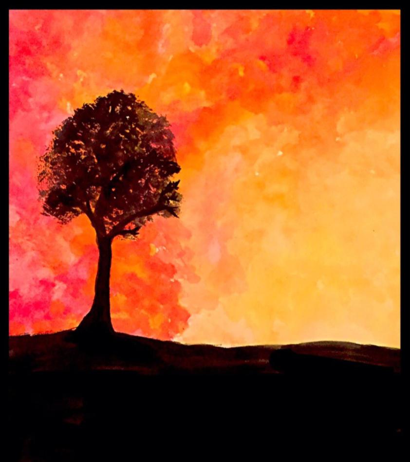 Watercolor Sunset by wallefan10