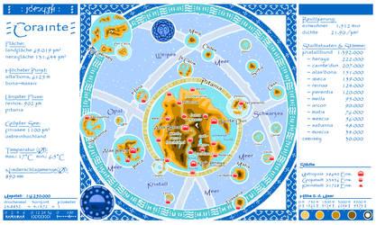 The Blue Atlas - Map of Corainte
