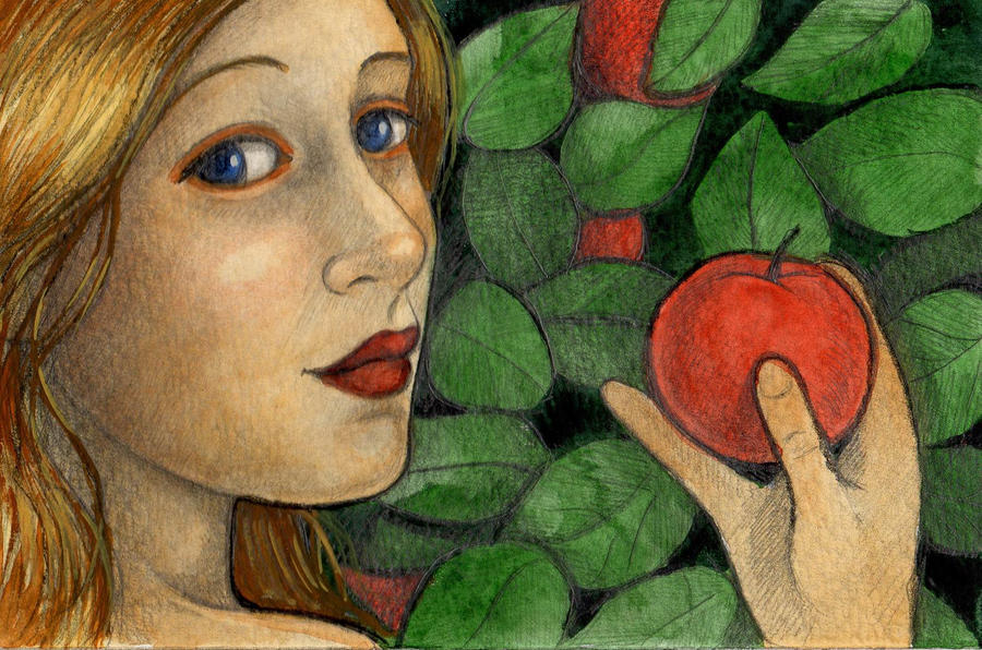Eve in the garden of eden by whimsicalmoon on deviantart - Who was the serpent in the garden of eden ...
