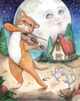 Cat and the Fiddle by WhimsicalMoon