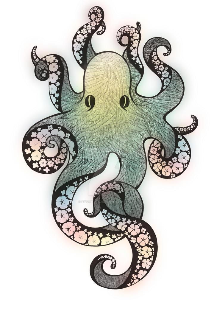 Line Art Octopus : Octopus illustration by swordtosoul on deviantart