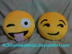 Emoji cushion by Th3DamnedNinja