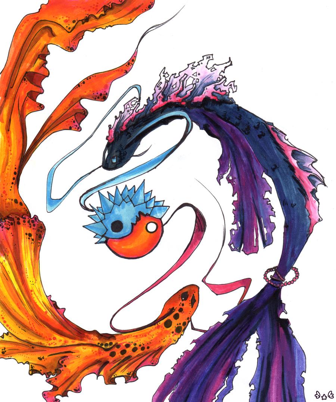 Yin yang fish by reverrii on deviantart for Yin yang fish