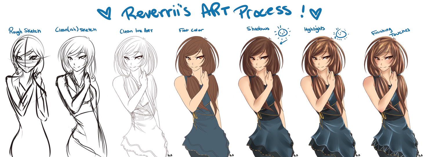 Art Process by Reverrii