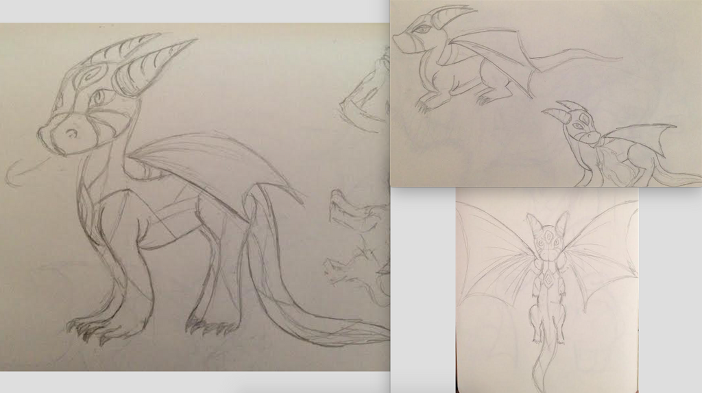 16 Days of Doodles: Day 16: Dragon Sketches by ThatArtGirl1