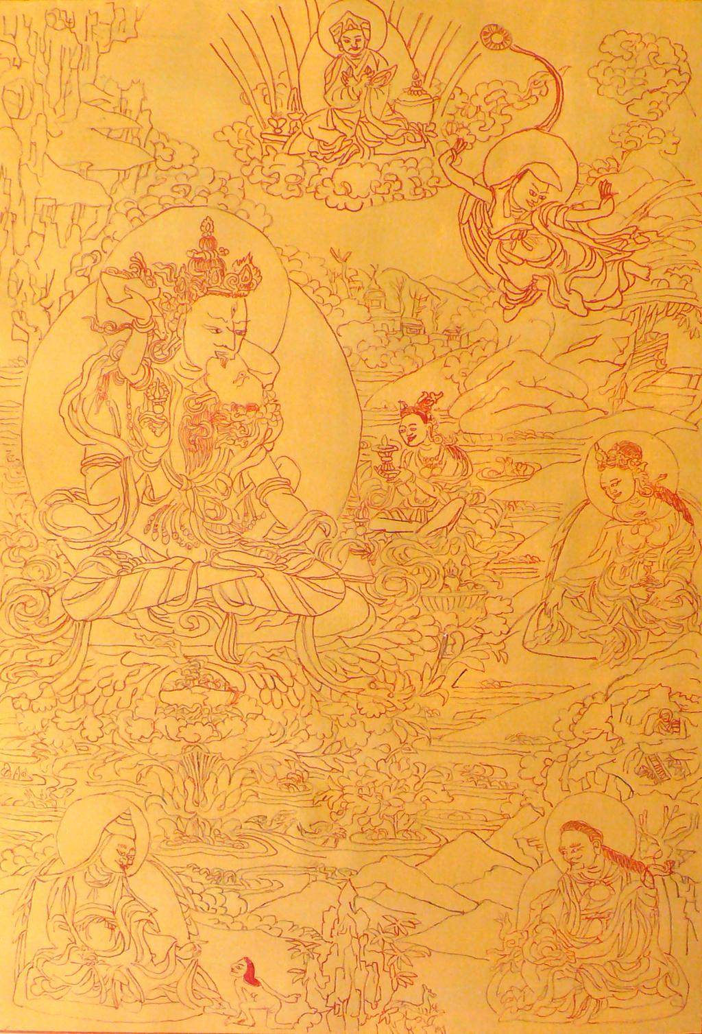 Thangka Padmasambhava, Urgyen Dorje Chang