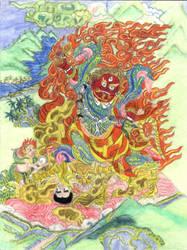 Thangka Padmasambhva, Dorje Drolod