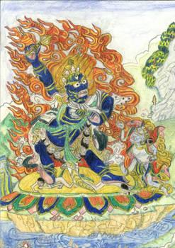 Thangka Padmasambhava, Senge Dradog