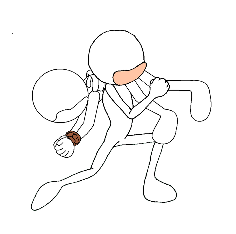 how to draw somebody running toward you