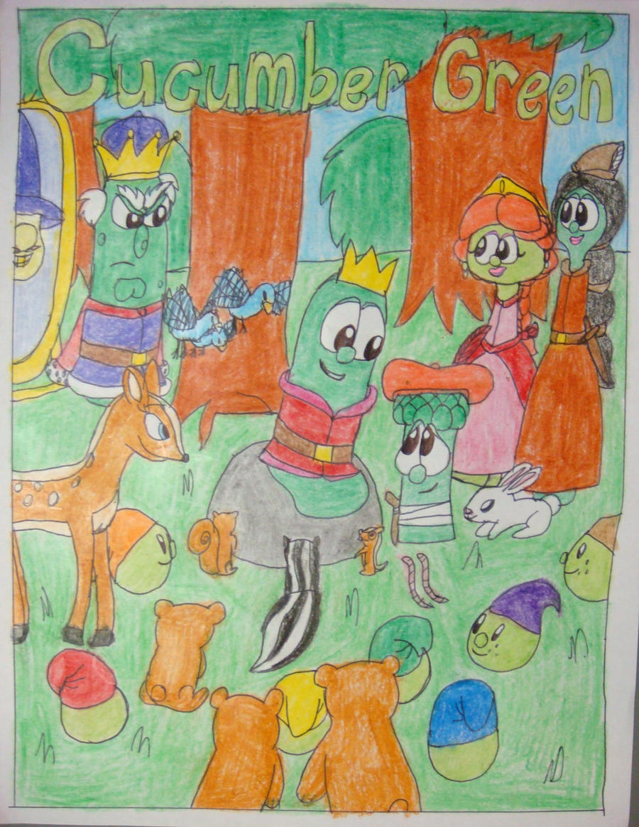 Larryboy And The Bad Apple Coloring Pages : Cucumber green poster by magic kristina kw on deviantart