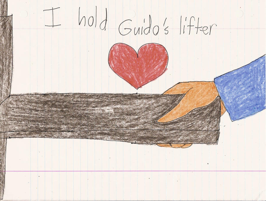 I hold Guido's lifter by Magic-Kristina-KW